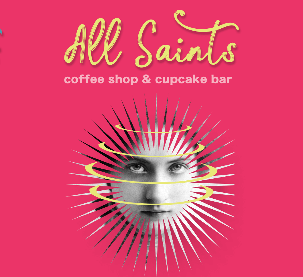 All saints branding logo mobile