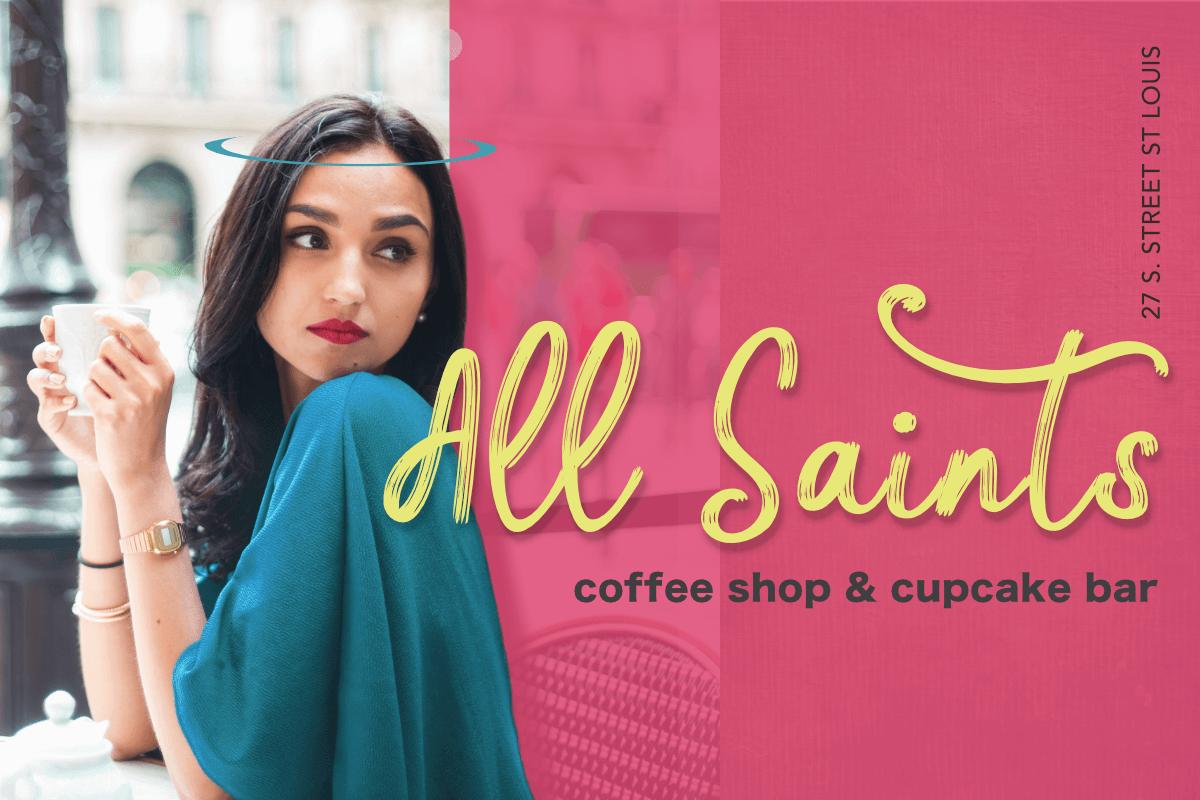 all saints branding girl