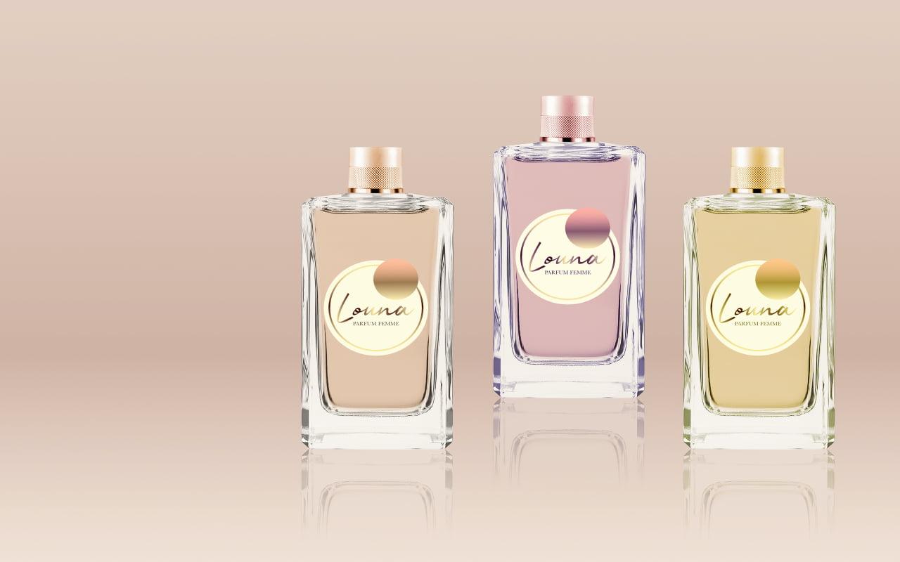 Louna parfum logo branding